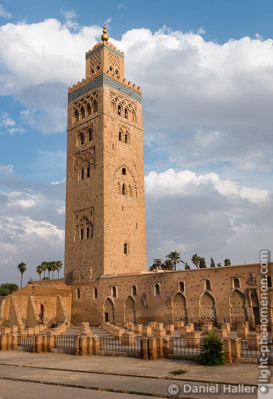 Minarett der Koutoubia-Moschee, Marrakesch, Fujifilm X100S