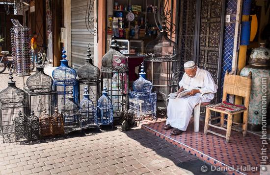 Vogelkäfige, Marrakesch
