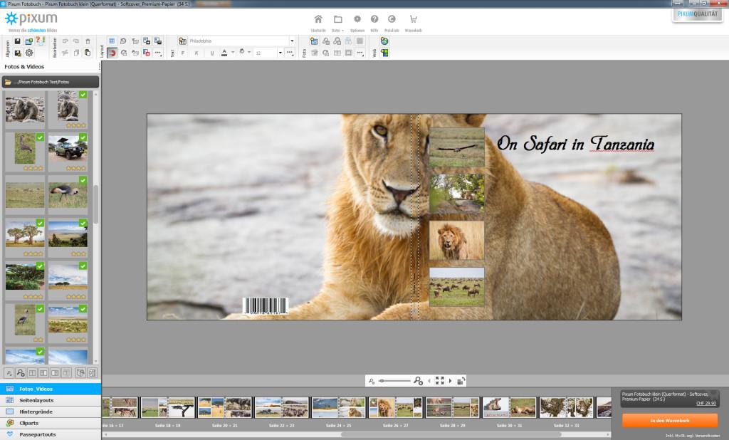 Pixum Fotobuch Software: Da passt noch nicht alles - jetzt ist Handarbeit gefragt