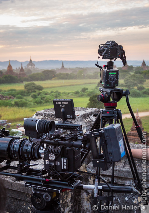 Syrp Genie on location in Bagan, Myanmar