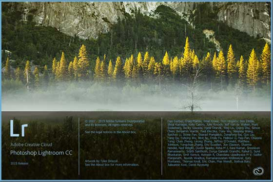 Adobe Photoshop Lightroom CC Splash Screen