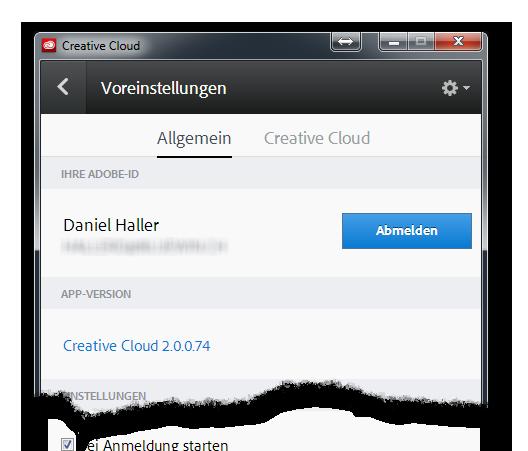 Creative Cloud Sign Off Button - light-phenomenon.com, Daniel Haller
