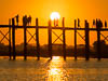 U Bein Bridge, Taungthaman Lake near Amarapura in Myanmar, Southeast Asia, Copyright (c) Daniel Haller - light-phenomenon.com. All rights reserved.