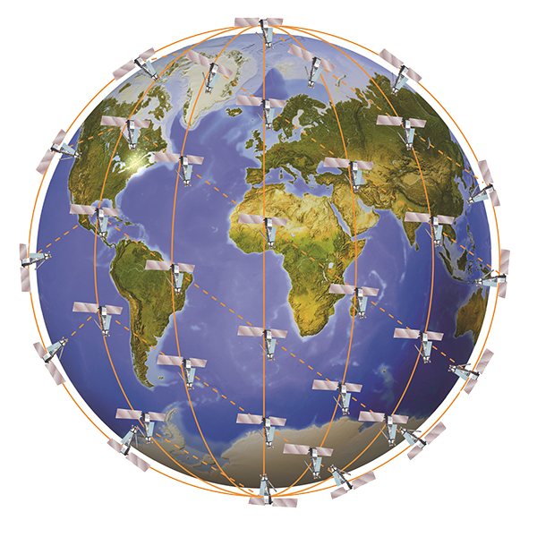 Iridium Satellites Artwork, Copyright: Iridium Communications Inc.